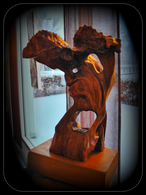 Träsnideri Kvinna med flera ansikten